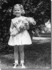 With Tiger in 1962, age 4